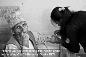 Nepal Erdbeben Health Camp